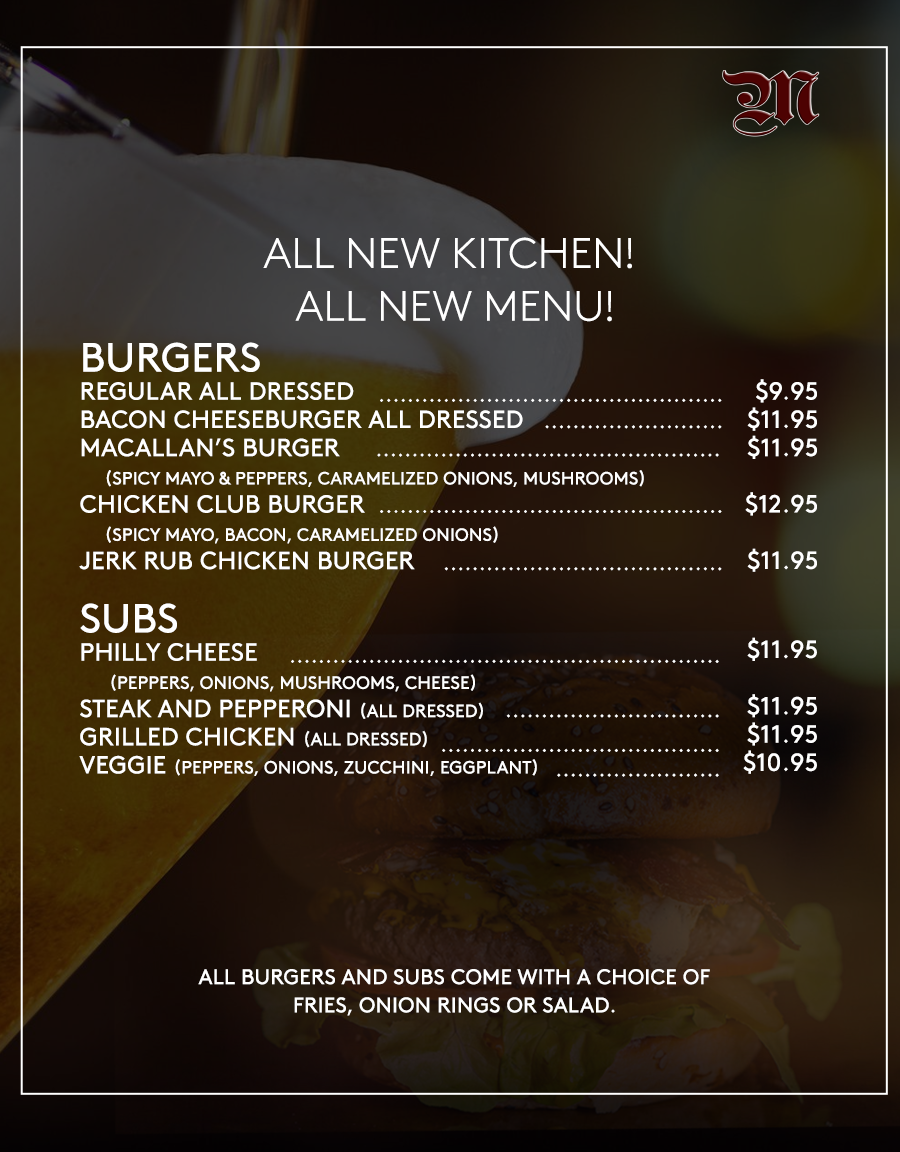 macallans english menu part one feb 19